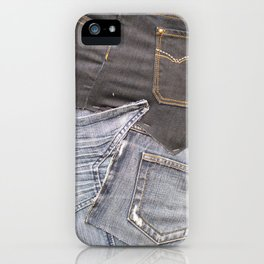 jeans denim as background iPhone Case
