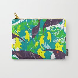 Tui in Kowhai Carry-All Pouch