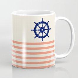 AFE Navy Helm Wheel, Nautica Art Coffee Mug