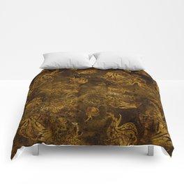Mosaic of Elephants V tones Earth Comforters
