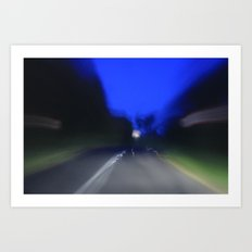 it was a long drive Art Print
