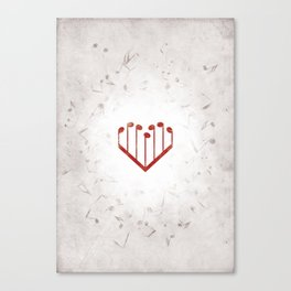 Music Heart gray Canvas Print