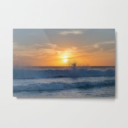When the Sea meets the Sun Metal Print