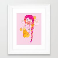 feminism Framed Art Prints featuring Feminism by Something Quiet