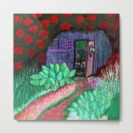 Tote Your Secret Garden, Then Take a Nap With It. Metal Print