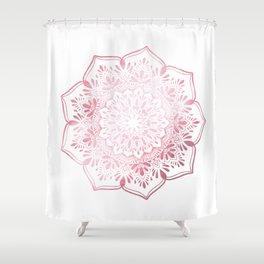 Rose Gold Mandala Indian Inspired Shower Curtain