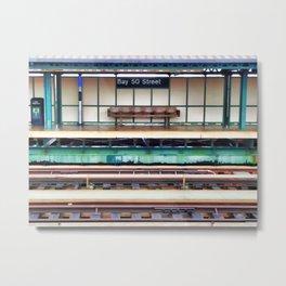A platform bench Metal Print