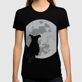 Jack Russel Silhouette Moon Gift For Lovers and Owners T-shirt