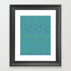 Underwater Blue Flora Framed Art Print