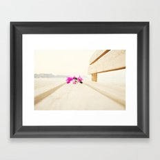 bench Framed Art Print