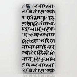 Sanskrit // Light Grey iPhone Skin