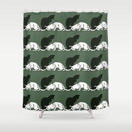 """Théophile Steinlen  """"Frise de chats"""" (original) Shower Curtain"""