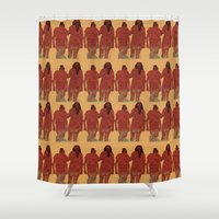 girls Shower Curtains featuring Girls by Nahal