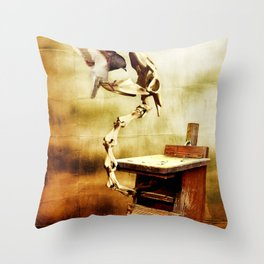 Feeding the Dragon Throw Pillow