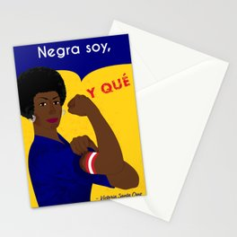 Negra Soy, Y QUE! Stationery Cards