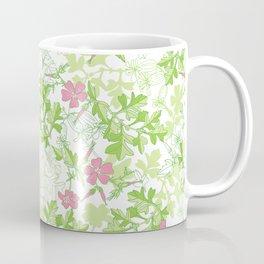 Forest Wildflowers / White Background Coffee Mug