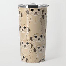 Meerkats Kalahari Desert Travel Mug
