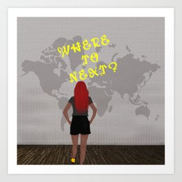 Where to Next? Art Print