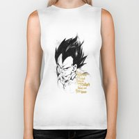 dragonball z Biker Tanks featuring Dragonball Z - Pride by Straife01