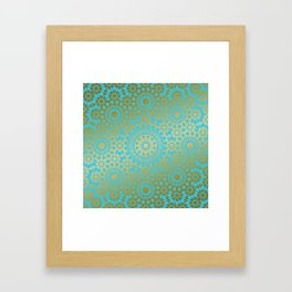 Moroccan Nights - Gold Teal Mandala Pattern 1 - Mix & Match with Simplicity of Life Framed Art Print