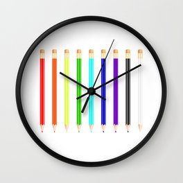 Colorful pencils collection Wall Clock