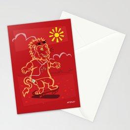 skateboarding Lion Stationery Cards