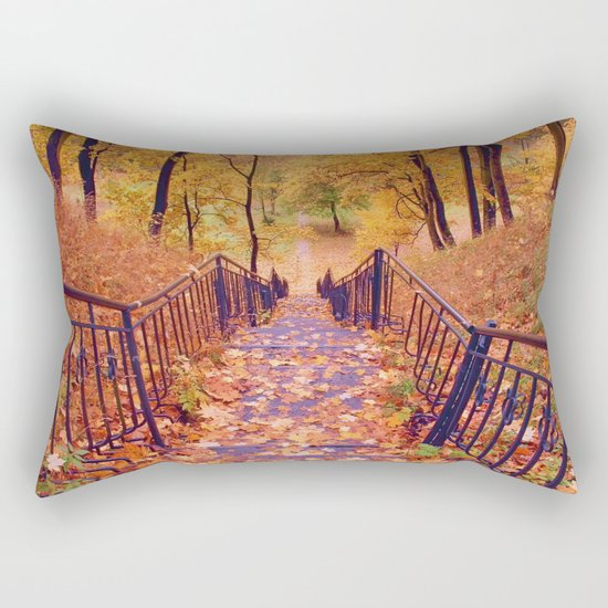 Stairs in the Fall Rectangular Pillow