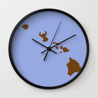 lilo and stitch Wall Clocks featuring Lilo and Stitch (no title) by Citron Vert