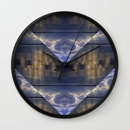 Water and Clouds Wall Clock