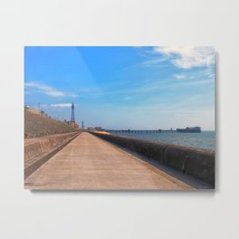 blackpool promenade - morning Metal Print