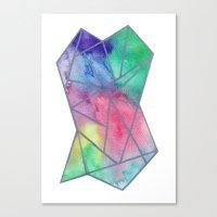 tie dye Canvas Prints featuring Tie dye by Bridget Davidson