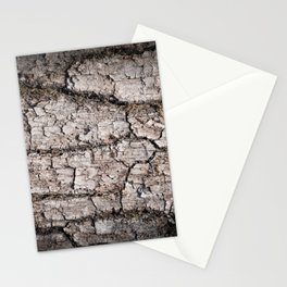 Texture - a bark of old oak with moss Stationery Cards
