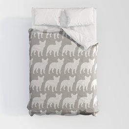French Bulldog Silhouette(s) Comforters
