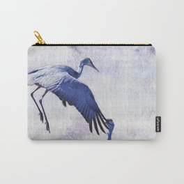 Hopping Crane Carry-All Pouch
