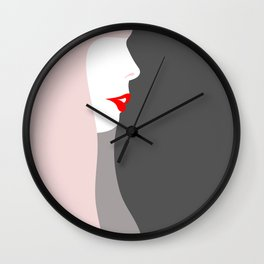 Joni Michell (pop pink & grey) Wall Clock