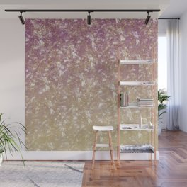 Gold Pink Sparkle Ombre Wall Mural