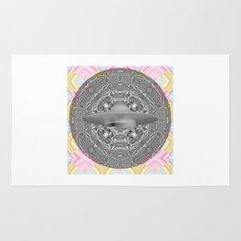 UFO Space Mandala Art Print Rug