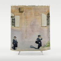 jewish Shower Curtains featuring Jewish Quarter by Andrey Esionov