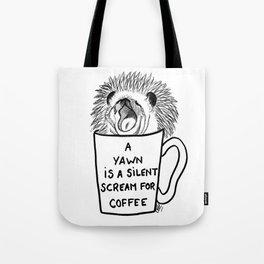 Hedgehog & coffee Tote Bag