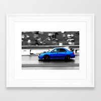 subaru Framed Art Prints featuring Subaru Racer by VHS Photography