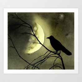Crow Moon Art Print