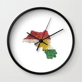 Kurdistan gift Kurds flag Wall Clock