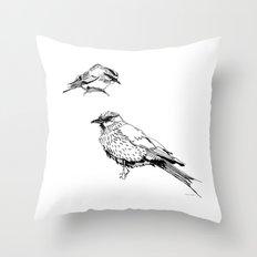 Sketchy Fellas Throw Pillow