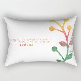 Budda thoughts Rectangular Pillow