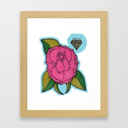 Okay Rose Framed Art Print