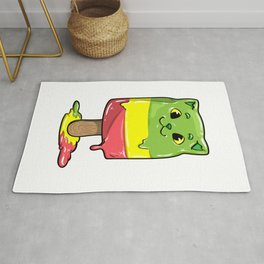 Cat with Popsicles Rug