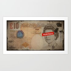 QU££N BURN Art Print
