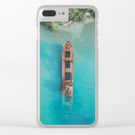 Roatan Island Shipwreck Clear iPhone Case