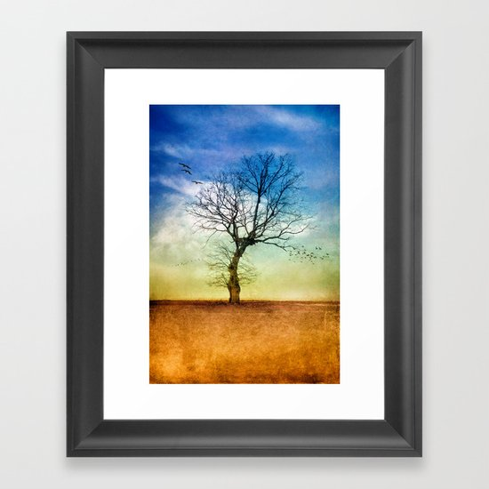 ATMOSPHERIC TREE | Autumn Light Framed Art Print