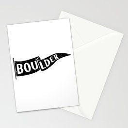 Boulder Colorado Pennant Flag // University College Dorm Room Graphic Design Decor Black & White Stationery Cards